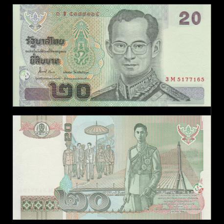 Thailande, 20 baht, 2003