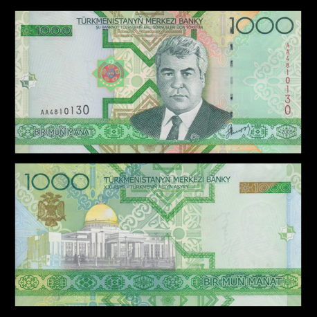 Turkmenistan, P-20, 1000 manat, 2005