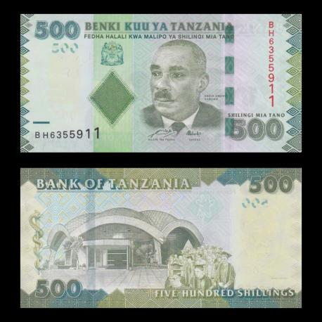 Tanzania, p-40, 500 SHILINGI, 2010