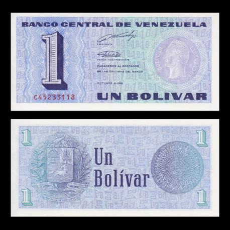 Venezuela, p-68, 1 bolivare, 1989
