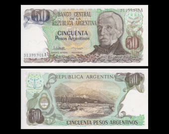 Argentine, p-314a, 50 pesos argentinos 1983-85
