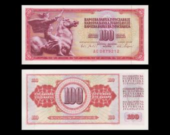 Yougoslavie, P-080c, 100 dinara, 1965