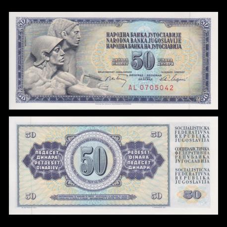 Yougoslavie, P-083c, 50 dinara, 1968