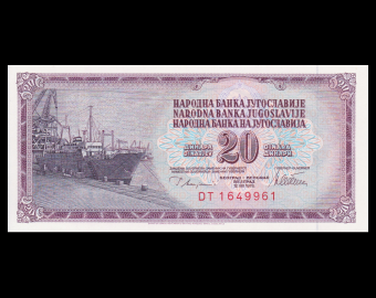 Yugoslavia, P-088a, 20 dinara, 1978
