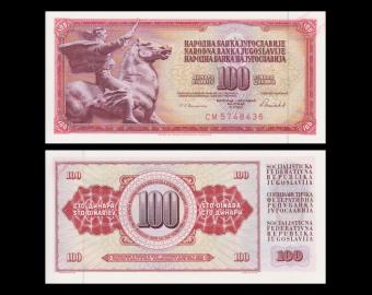 Yougoslavie, P-090c, 100 dinara, 1986
