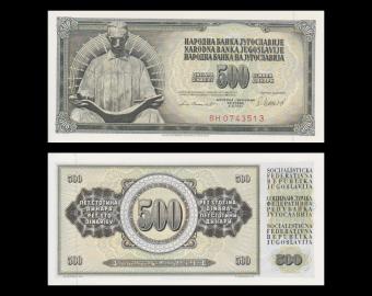 Yougoslavie, P-091b, 500 dinara, 1981