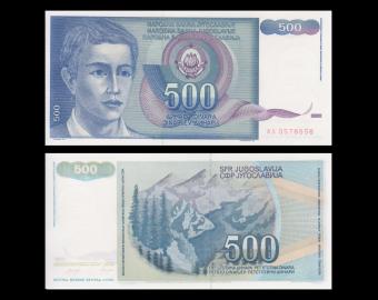 Yugoslavia, P-106, 500 dinara, 1990
