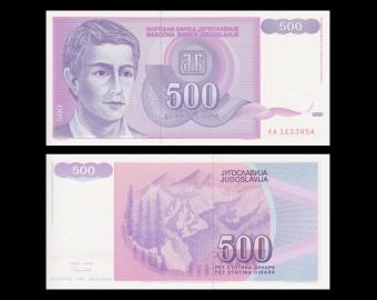 Yugoslavia, P-113, 500 dinara, 1992