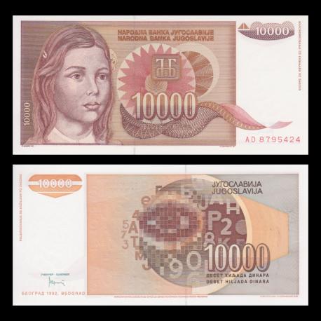 Yugoslavia, P-116a, 1 000 dinara, 1992