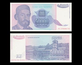 Yougoslavie, P-130, 50 000 dinara, 1993