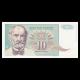 Yougoslavie, 10 dinara, 1994
