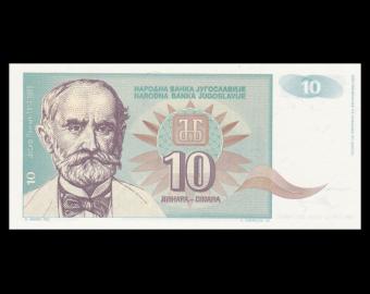 Yougoslavie, P-138, 10 dinara, 1994