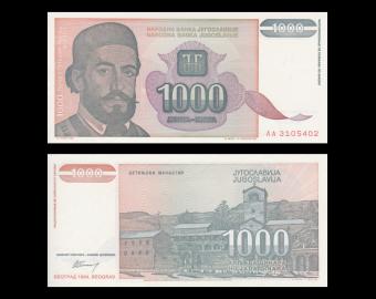 Yugoslavia, P-140, 1000 dinara, 1994