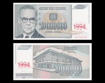Yugoslavia, P-144, 10 000 000 dinara, 1994