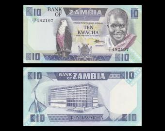 Zambie, P-26e, 10 kwacha, 1980-88