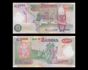 Zambie, P-44new, 1000 kwacha, 2011, Polymère