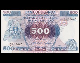 Uganda, P-25, 500 shilingi, 1986