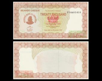 Zimbabwe, P-23f, 20000 dollars, 2005