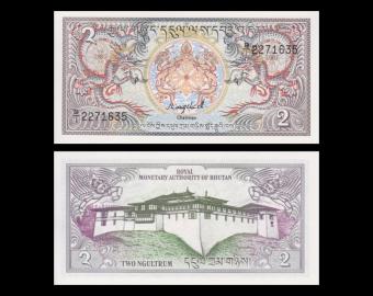 Bhutan, P-13, 2 ngultrum, 1986