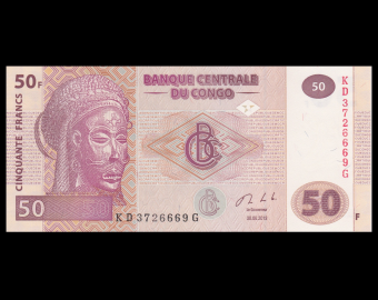 Congo, P-97A, 50 francs, 2013