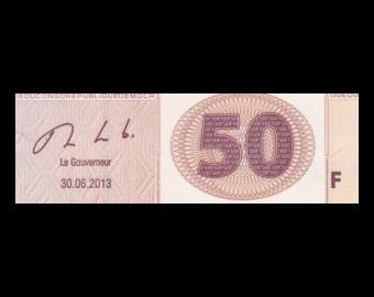 Congo, P-097A, 50 francs, 2013