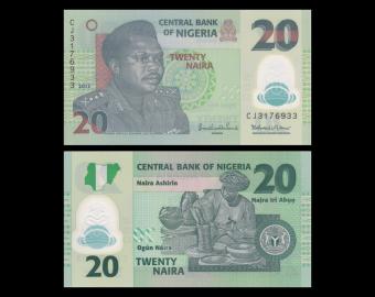 Nigeria, p-34j, 20 naira, Polymer, 2013