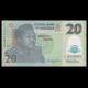 Nigéria, p-34j, 20 naira, Polymère, 2013