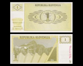 Slovénie, P-01, 1 tolar, 1990