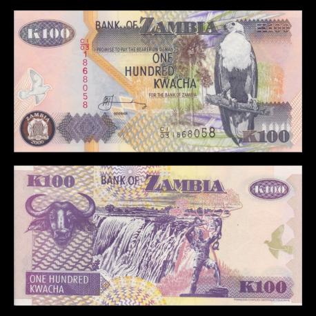 Zambie, P-38f, 100 kwacha, 2006