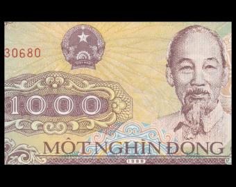 VietNam, P-106a1, 1 000 dông, 1988