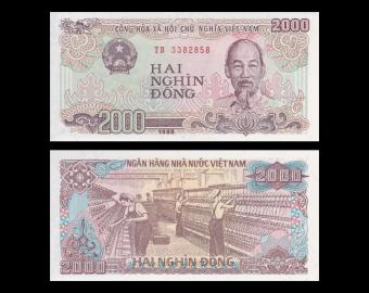Vietnam, P-107a, 2000 dông, 1988