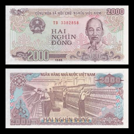 VietNam, P-107, 2000 dông, 1988