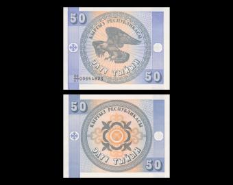 Kirghizistan, P-03a, 50 tyiyn, 1993