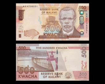 Malawi, P-66a, 500 kwacha, 2014