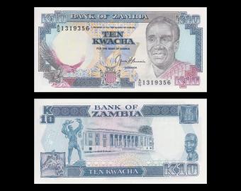 Zambie, P-31b, 10 kwacha, 1991
