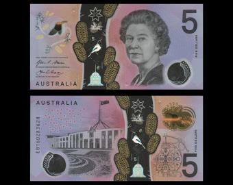 Australia, p-62, 5 dollars, 2016