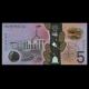 Australie, p-62, 5 dollars, 2016