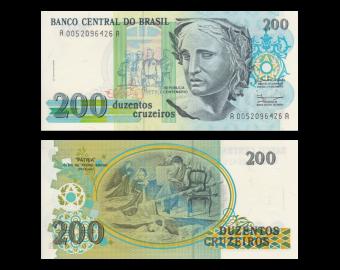 Brésil, p-229, 200 cruzeiros, 1990