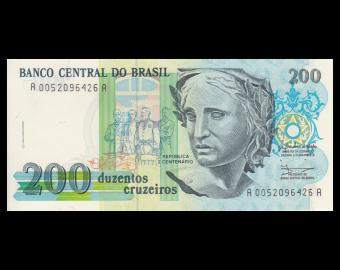 Brazil, P-229, 200 cruzeiros, 1990