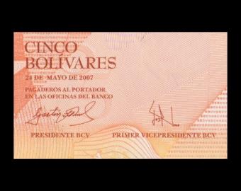 Venezuela, P-089b, 5 bolivares, 2007