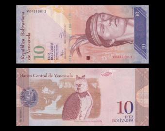 Venezuela, p-90e, 10 bolivares, 2014