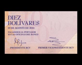 Venezuela, P-090e, 10 bolivares, 2014