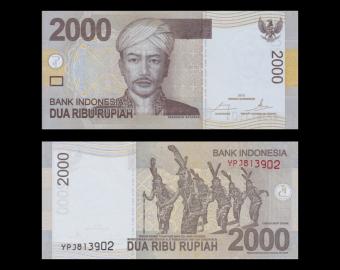 Indonesia, P-148e, 2000 rupiah, 2015