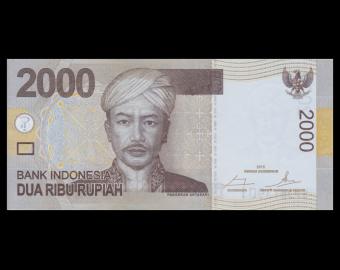 Indonésie, P-148e, 2000 rupiah, 2015