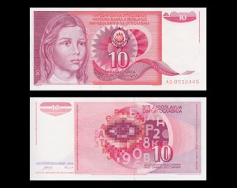 Yugoslavia, P-103, 10 dinara, 1990