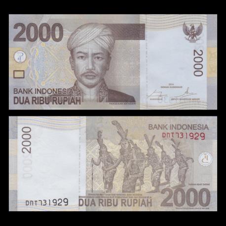 Indonésie, P-148e2, 2000 rupiah, 2014
