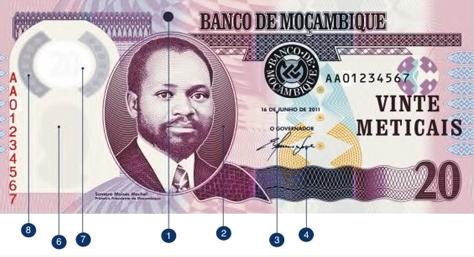 Mozambique, p-149b, 20 meticais, 2017