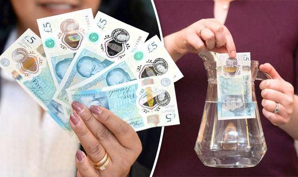 Exemple de billet Polymère : Bank of England