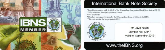 IBNS carte de membre 2019
