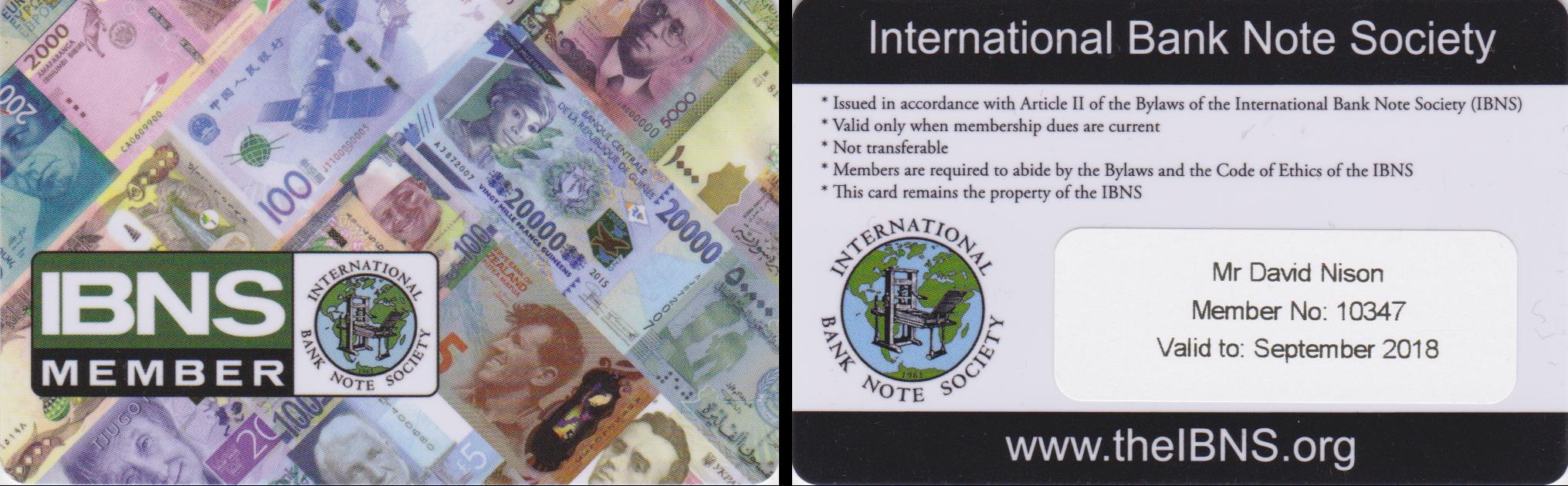 Member card IBNS